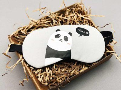 Маска для сна гелевая Hello Panda