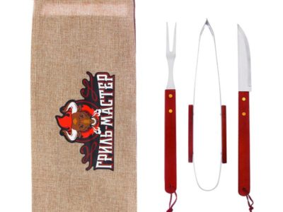 Набор для барбекю Гриль Мастер щипцы вилка нож