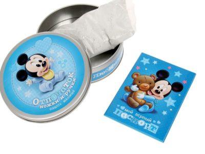 Набор для творчества Сделай слепок ручки и ножки Вашего малыша Микки Маус синий