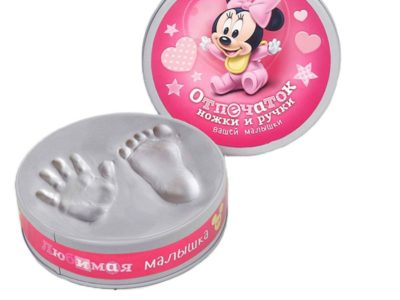 Набор для творчества Сделай слепок ручки и ножки Вашего малыша Микки Маус розовый