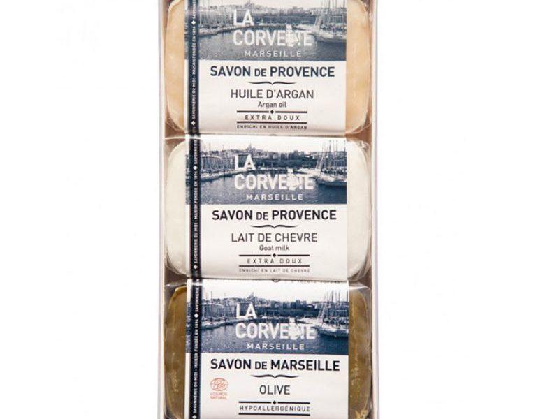 Набор La Corvette Прованское трио Олива/ Масло арганы/ Козье молоко 3 х 100 гр.