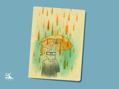 Обложка на паспорт Морковный дождь