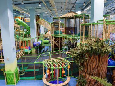 Посещение детского парка развлечений «Веселые Джунгли» для семьи