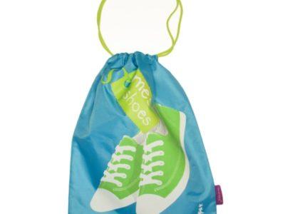 Большой мешок для обуви в поездку Mes Shoes голубой
