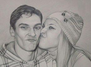 Портрет с фотографии для двоих