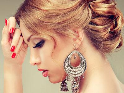 Вечерняя укладка и макияж
