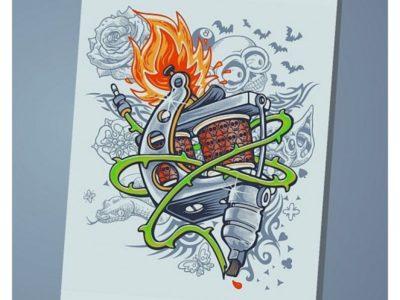 Обложка на паспорт Tattoo