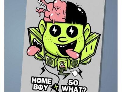 Обложка на паспорт Home boy