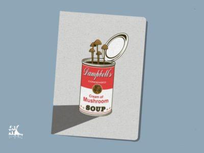 Обложка на паспорт Грибной суп
